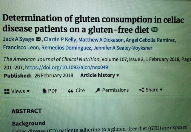 Significant Study Published on the Amount of Gluten Eaten by
