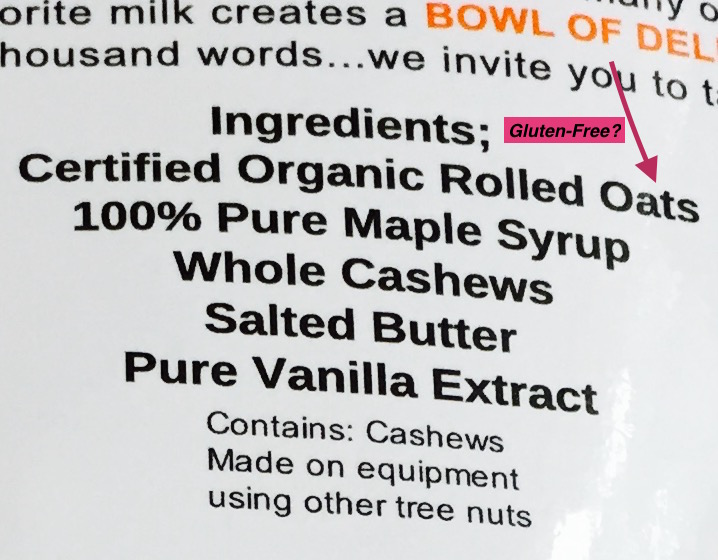 Are the oats in this labeled gluten-free product gluten ...