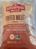 Arrowhead Mills Puffed Millet  (Not Labeled GF)