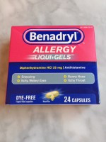 Benadryl Allergy LiquiGels Dye-Free Not Labeled GF