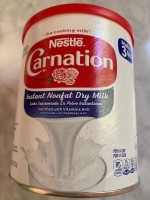 Nestle Carnation Nonfat Dry Milk (NOT LABELED GF)
