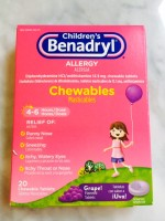 Children's Benadryl Chewables (Not Labeled GF)