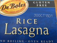 DeBoles Rice Lasagna (As)