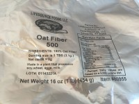 LifeSource Foods Oat Fiber 500 (NOT LABELED GF)