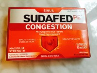 Sudafed PE Congestion (Not Labeled GF)