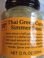 Trader Joe's Green Curry Sauce (Not Labeled GF)