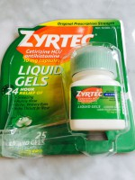 Zyrtec Allergy Liquid Gels (not labeled GF)